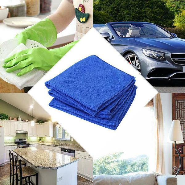 50pcs 30*30cm Large Micro-fibre Cleaning Auto Car Detailing Soft Cloths Wash Towel Duster