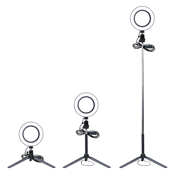 LED Selfie Ring Light Dimmable LED Ring Lamp Photo Video Camera Phone Light ring light Fill Light With Telescopic Bracket