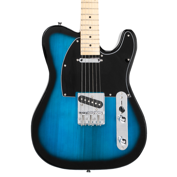 【Do Not Sell on Amazon】Glarry GTL Maple Fingerboard Electric Guitar with 20W Amplifier Bag Strap Plectrum Connecting Wire Spanner Tool Dark Blue
