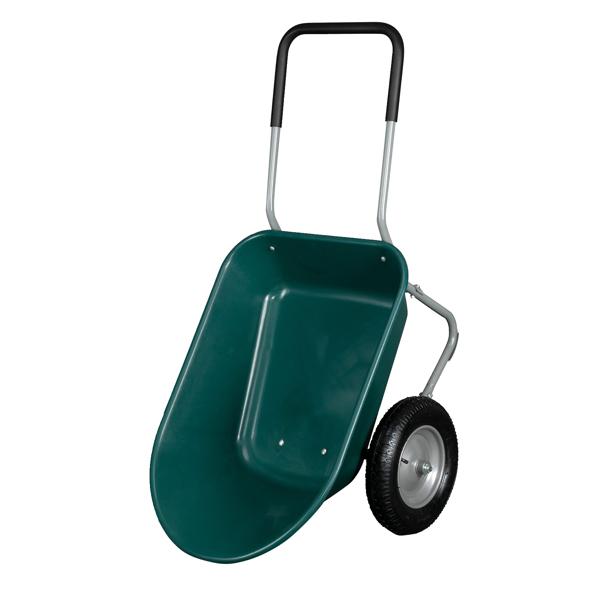 146*62*65cm Garden Iron Wood Double Wheel Garden Cart