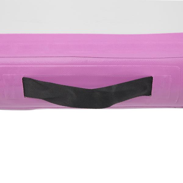 FCH 3m x 1m Aufblasbare Tumbling Matte Turnmatte, Gymnastikmatte Trainingsmatte mit Luftpumpe Tragetasche, für Zuhause, Outdoor, Yoga, Übungsgymnastik, Lila Grau