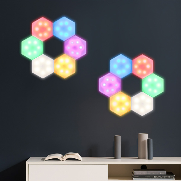 Touch Switch RGB DIY Battery Cabinet Wall Lamp Honeycomb Lamp Colorful Honeycomb Hexagon Wall Lamp