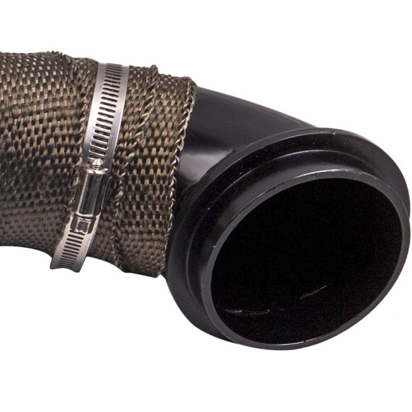 "3""Turbo Downpipe Passenger Side Up-Pipe for LB7 LLY LMM LML 6.6L Duramax Black"