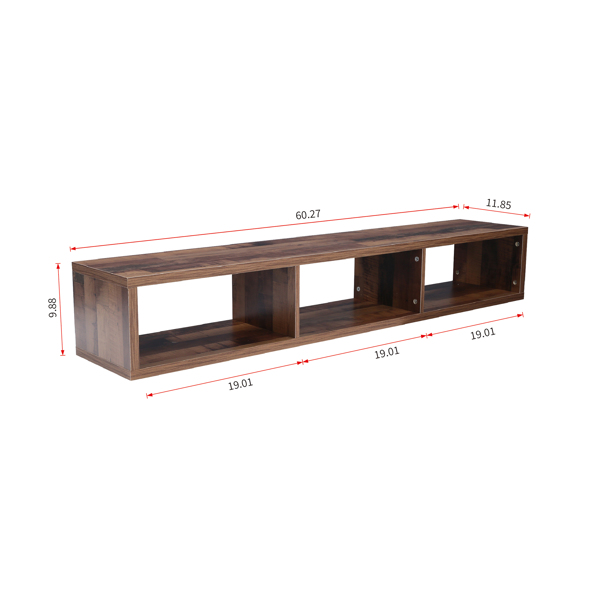 """Shallow Floating TV Console, 60"""""""
