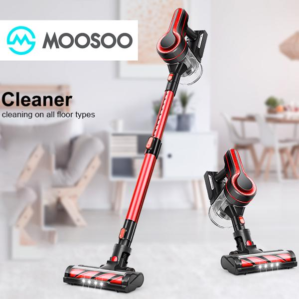 【Not available for sale on Amazon&Walmart】MooSoo K17U Cordless Vacuum Cleaner 18Kpa Telescopic tube Household Vacuum Cleaner with Strong Suction Power