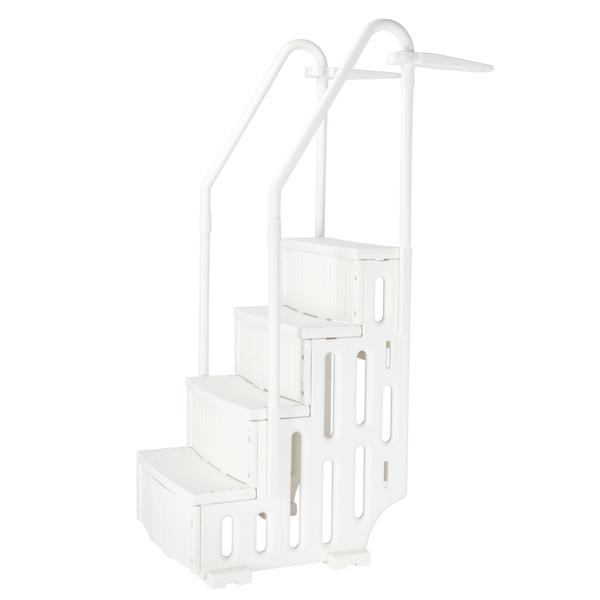 85*68*198cm PE Swimming Pool Escalator White