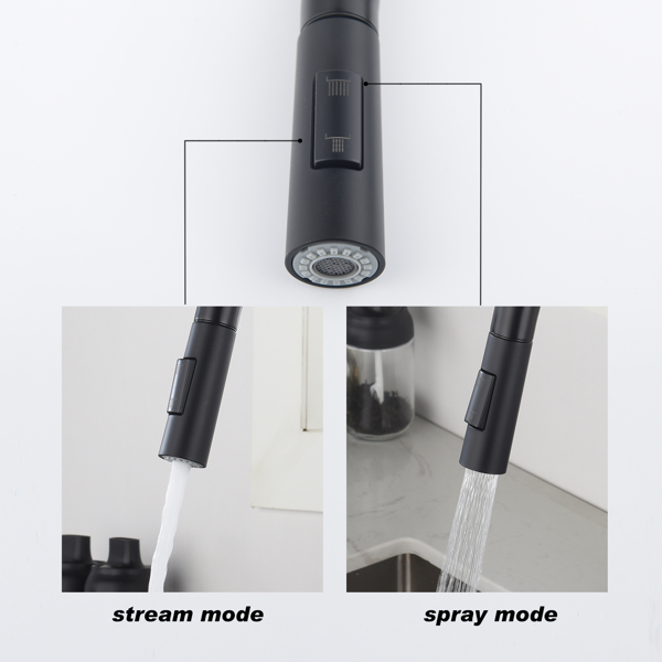 Touch Kitchen Faucet with Pull Down Sprayer-Matte Black
