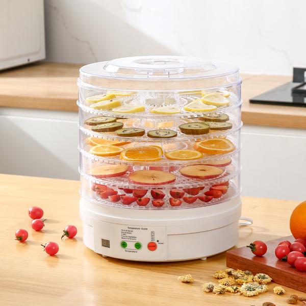 "Food Dehydrator, 5 11.4"" Trays, Adjustable Temperature Control for Homemade Jerky Herbs Fruit Veggies Meats Snacks Treats"