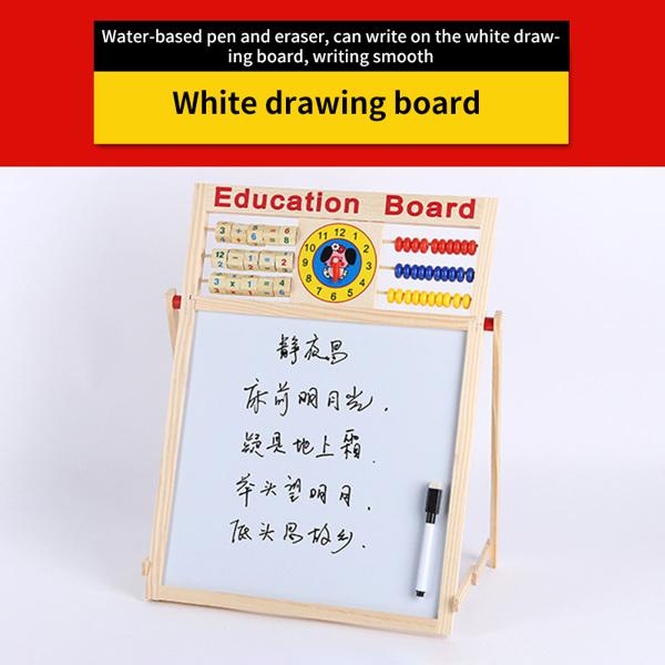 2 In 1 Education Blackboard Whiteboard Multifunctional Foldable Education Board Toy