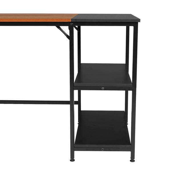 FCH 120cm Retro Color Black Particleboard Paste Triamine Stitching Computer Desk