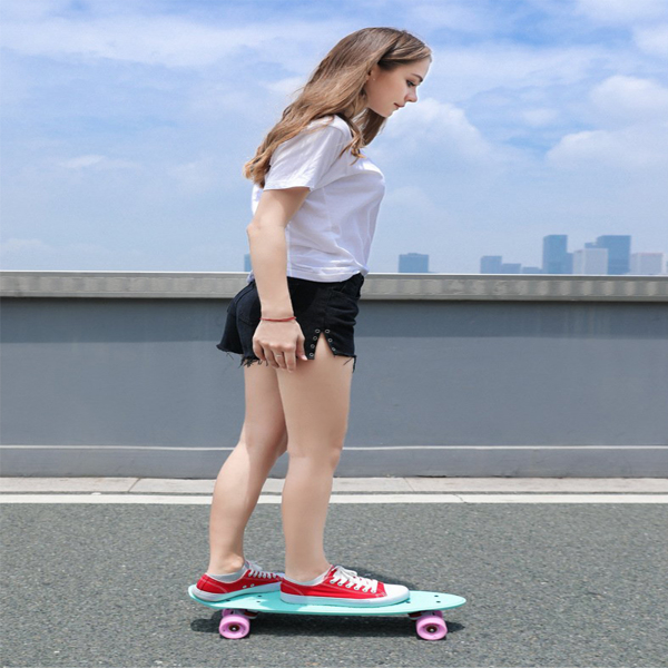 """Skateboards 22"""" x 6"""" Complete Skateboards for Kids/ Youths/ Teens/ Beginners Pink"""