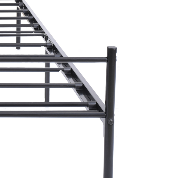 Twin metal platform bed frame with headboard/no box spring needed/easy to assemble black