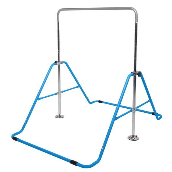Foldable Children's Horizontal Bar Gymnastics Bar Blue