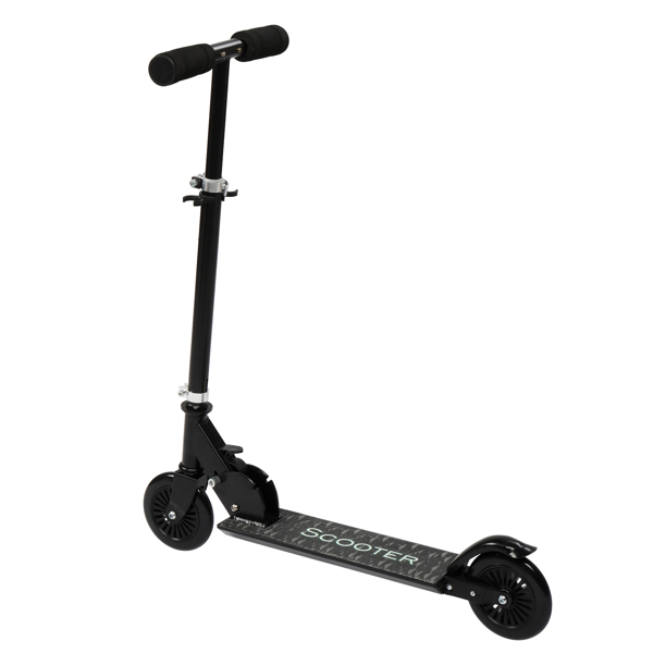 Scooter for Teens,3 Height Adjustable Easy Folding  Black