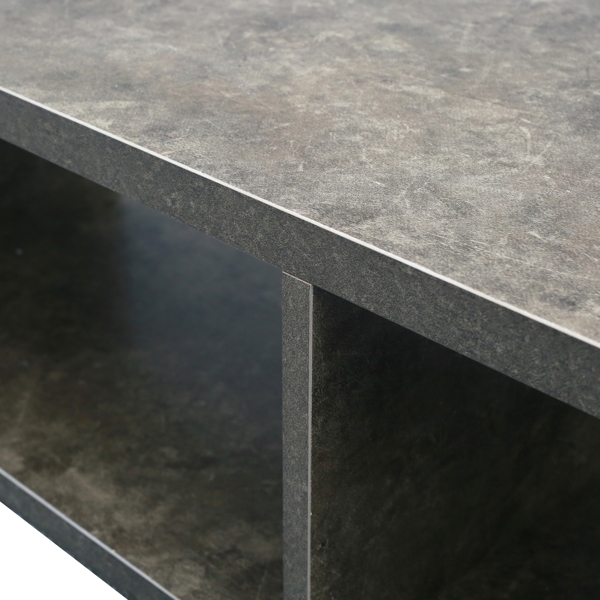 """Shallow Floating TV Console, 60"""",Grey"""
