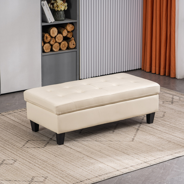 L-shaped Disassembly, Backrest Pull Point, Variable Combination, Three-seat Indoor Sofa, Solid Wood Soft Bag PU 3-1 194*67*83cm White Simple Nordic Style N101
