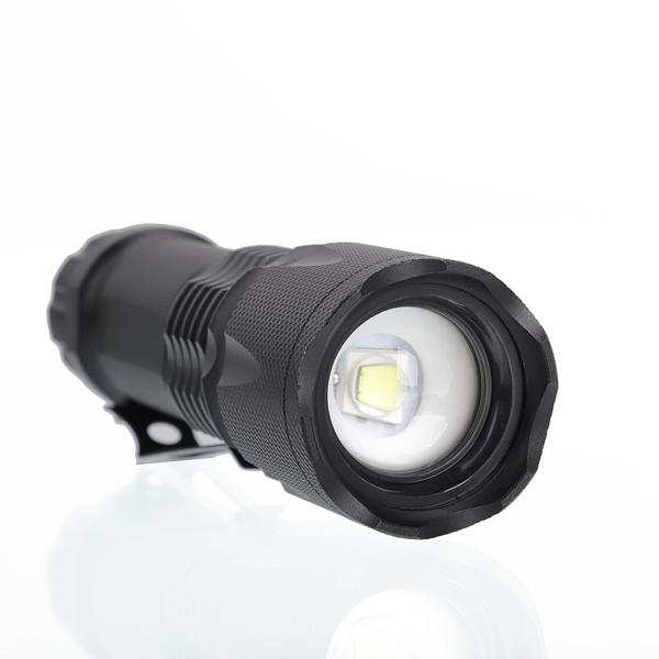 J6 Tactical Zooming Flashlight Set Black