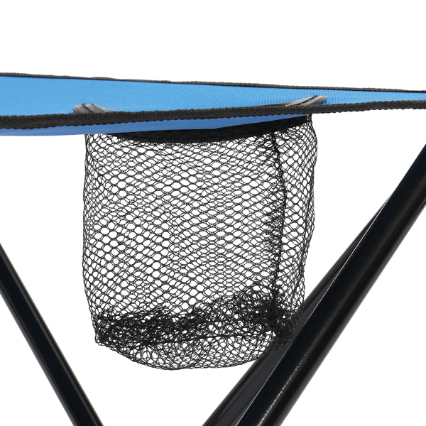 Oxford Cloth Steel Square Outdoor Folding Table  Blue