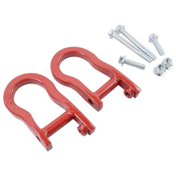 Pair Tow Hooks Red 84192871 For Chevrolet Silverado GMC Sierra 1500 2007-2019