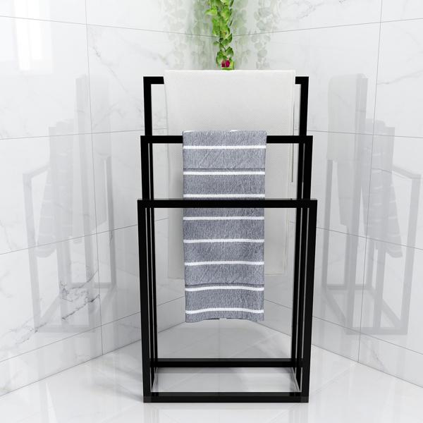 Metal Freestanding Towel Rack 3 Tiers Hand Towel Holder Organizer for Bathroom Accessories