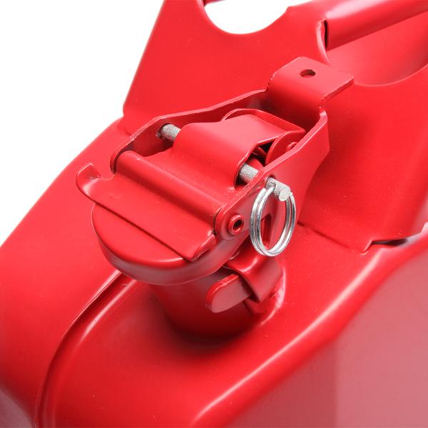 20L Stahlblech Kraftstoff Kanister, Metall Benzinkanister Reservekanister mit Ausgießer flexibel, Rot