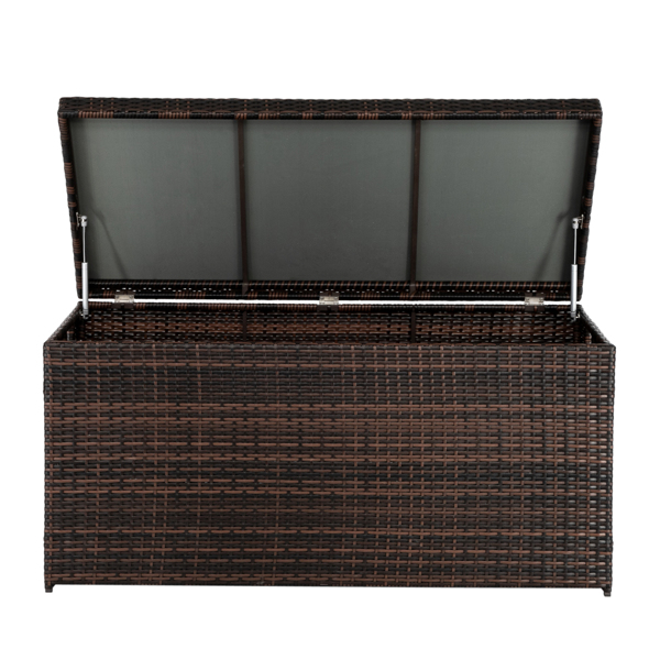 Simple And Practical Outdoor Deck Box Storage Box Brown Gradient