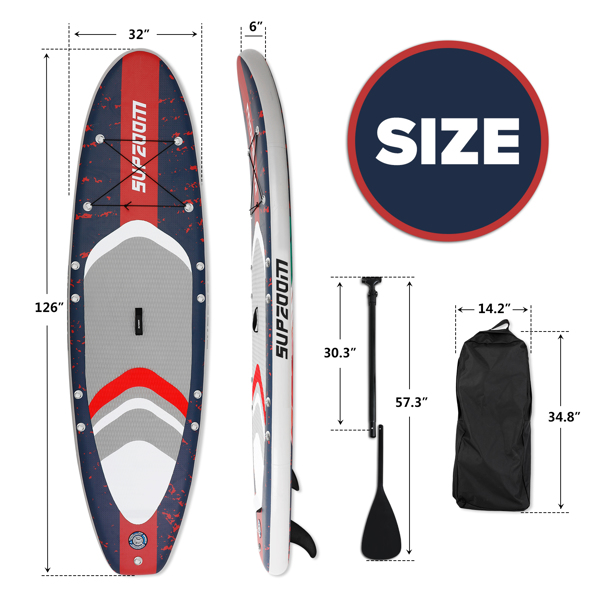 """SUPZOOM Flamingo Animal Style Inflatable 10'6×32""""×6"""" SUP for All Skill Levels Everything Included with Stand Up Paddle Board, Paddle, Hand Pump, ISUP Travel Backpack, Leash, Waterproof Bag, Repair Kit"""