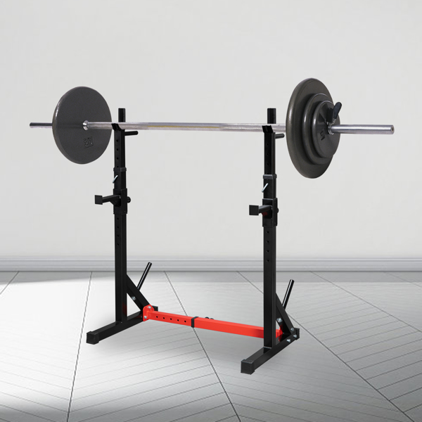 Langhantelablage, verstellbar Hantelständer Squat-Rack, Multifunktional Kniebeugenständer für Langhanteltraining, Fitnessgeräte für Zuhause