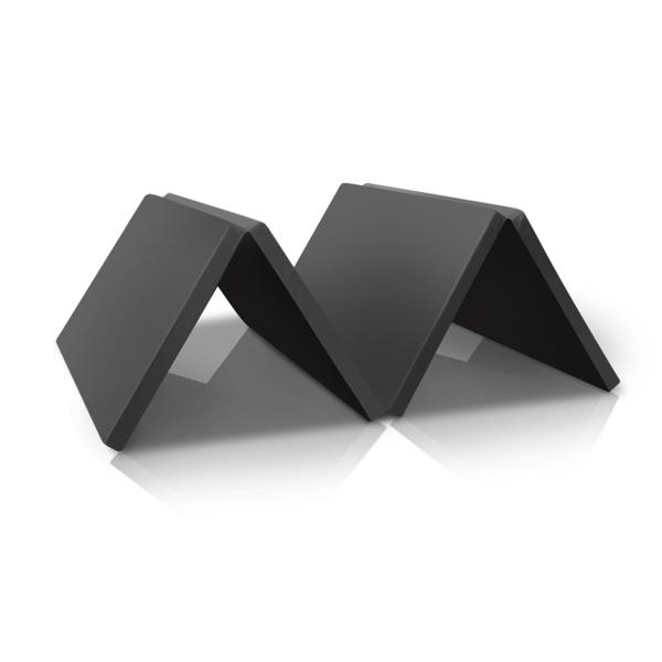 8ft x 4ft 4-Panel Folding Exercise Mat Yoga Gymnastics Aerobics Workout Fitness Floor Mats w/ Carrying Handles Black