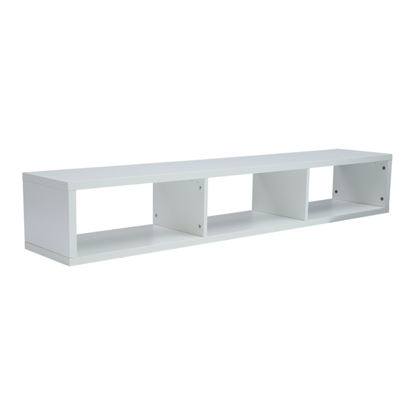 Floating TV Console,White