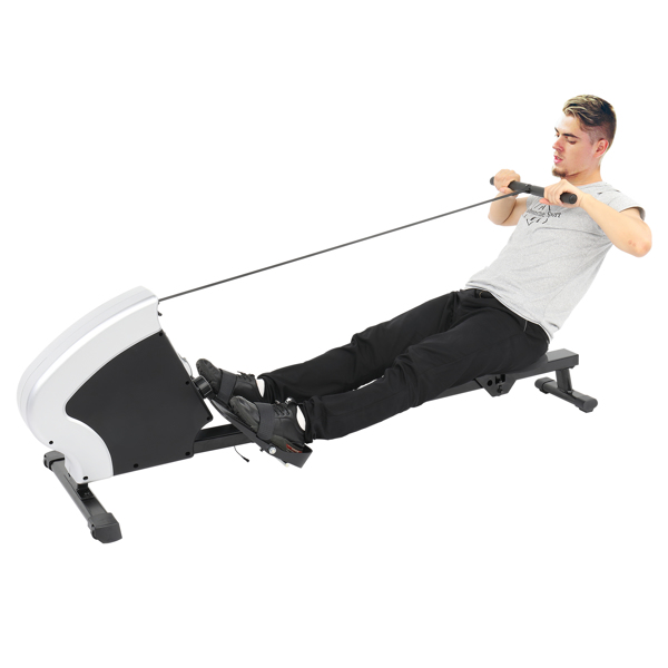 Household Foldable Reluctance Rowing Device Black