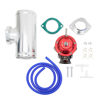 """UNIVERSAL BILLET ANODIZED TYPE-RS TURBO BLOW OFF VALVE BOV 2.5"""" FLANGE PIPE RED"""