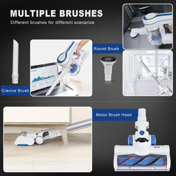 【Not available for sale on Amazon&Walmart】Aposen H250 4 in 1  Home Carpet Vacuum Cleaner Cordless Handheld Auto Motor Brushless Vacuum Cleaner