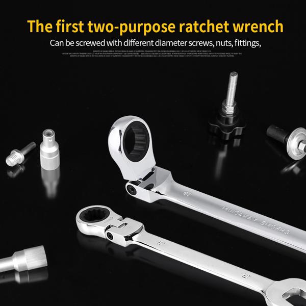Pro Spanner Wrench Ratchet Polished Set Kit 12PCS Metric 8 -19mm Car Tools DIY