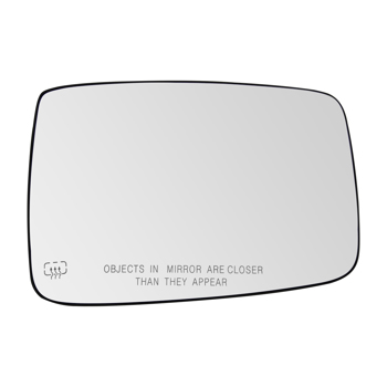 Mirror Glass Heated Power W/Backing Plate Driver Side LH for Dodge Ram 1500 2500