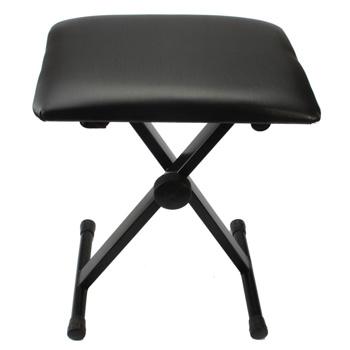 【Do Not Sell on Amazon】Glarry Adjustable Folding Piano Bench Stool Seat Black