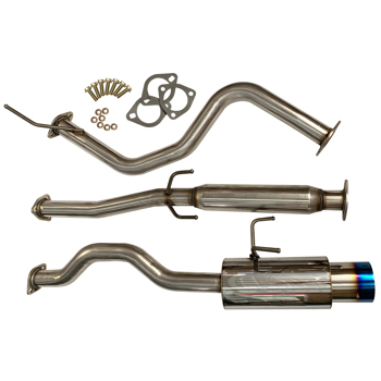 """For 92-00 Honda Civic 2/4Dr Jdm 2.25"""" To 2.5"""" Catback Exhaust System 4"""" Burn Tip"""