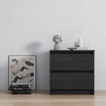 Chest of drawers with black wood grain