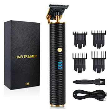 Men Hair Clippers, Professional Outliner Hair Trimmer Cordless, Mens Beard Trimmer, Wireless Hair Cutting Kit for Barbers, USB Rechargeable, Black and Gold