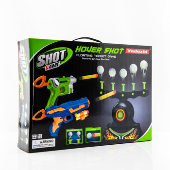 Shooting Targets for Nerf Guns Shooting Game Glow in The Dark Floating Ball Electric Target Practice Toys for Kids Boys Hover Shot 1 Blaster Toy Gun 10 Soft Foam Balls 3 Darts Gift