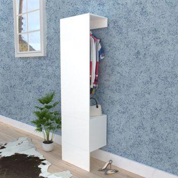 Open Wardrobe with 1-Door, White