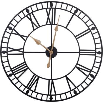 80CM Roman Wall Clock Black
