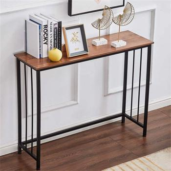 """Industrial Console Table, Sofa Table for Living Room,Hallway,Entryway, Entrance Hall, Corridor - Wood Look Metal Frame 38.6"""" L x 11.8"""" W x 30.7H"""