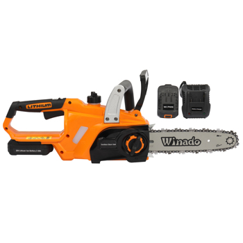 20V 10in 2.0AH Cordless Lithium Battery with Fast Charging Dock Charging Saw Orange