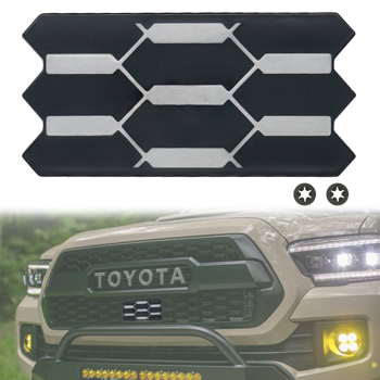 Front Grille Garnish Radiator Sensor Cover for 18-21 Tacoma TRD PRO