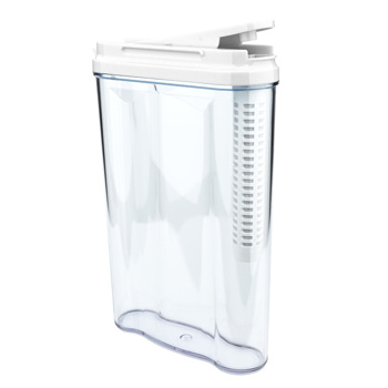 SimPure Drinking Water Filter Tank, Stream Filter Water Pitcher, 3-Stage Compound Filter, Food Standard As Abs, No Bpa, Easy To Handle, 1.2 Liter, White