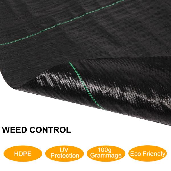1*20M Polypropylene Weeding Cloth Black