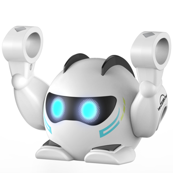 Robot Toy for Kids, Rolling with Music, Touch Sensitive Play Song, Multi Persons Music Interaction, Applause Activated Wake Up, Auto Standby Mode, Gift for Toddlers Boys Girls Ages 1, 2, 3-8