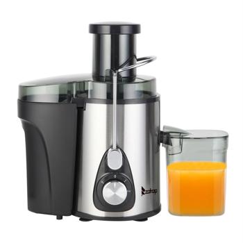 ZOKOP British Standard ALW-J02 220V 600W 600ml Juice Cup Plastic 75mm Large Diameter/1000ml Slag Cup/Third Gear/Mechanical Electric Juicer Black