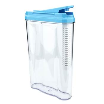 SimPure Drinking Water Filter Tank, Stream Filter Water Pitcher, 3-Stage Compound Filter, Food Standard As Abs, No Bpa, Easy To Handle, 1.2 Liter, Blue